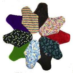 A swirl of cloth pads